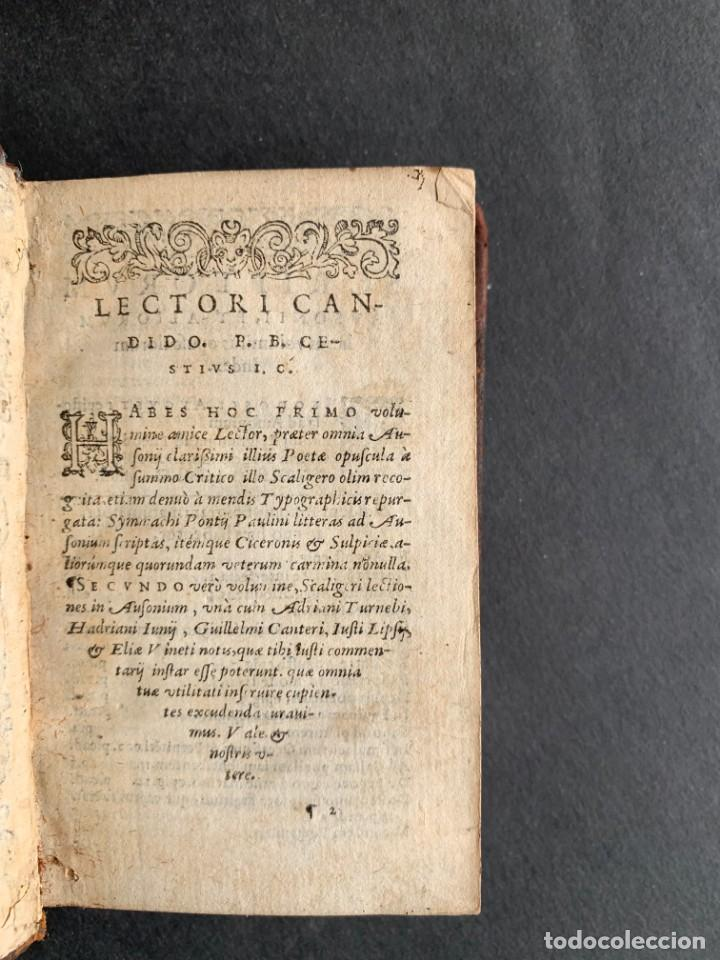 Libros antiguos: 1588 - Ausionio - Justo Lipsio - Viri Consularis Opera - Julio Cesar - Antigua Roma - Foto 4 - 141556178