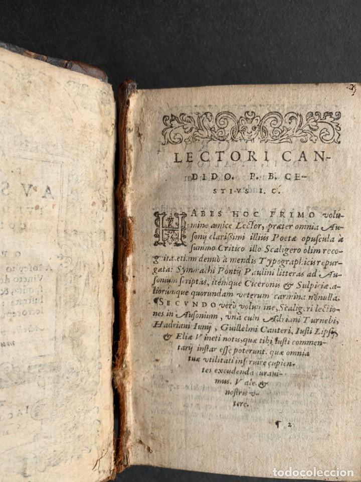 Libros antiguos: 1588 - Ausionio - Justo Lipsio - Viri Consularis Opera - Julio Cesar - Antigua Roma - Foto 5 - 141556178