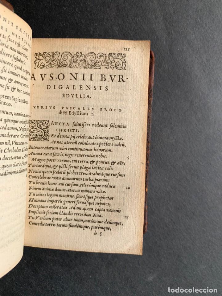 Libros antiguos: 1588 - Ausionio - Justo Lipsio - Viri Consularis Opera - Julio Cesar - Antigua Roma - Foto 10 - 141556178