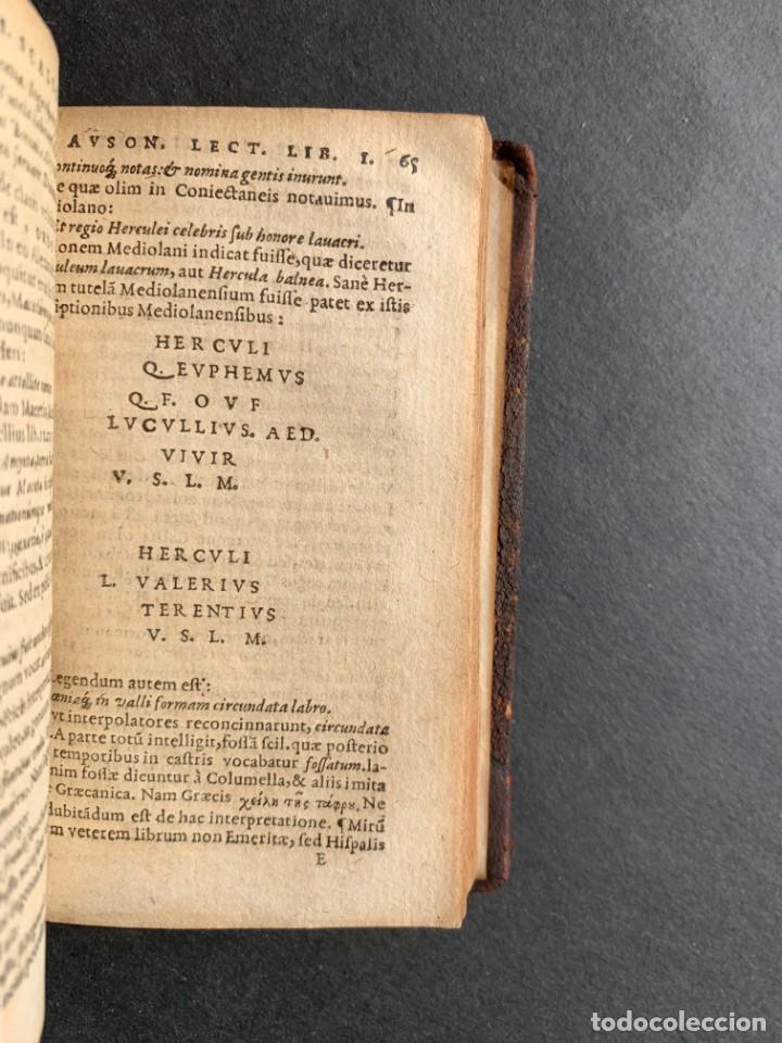 Libros antiguos: 1588 - Ausionio - Justo Lipsio - Viri Consularis Opera - Julio Cesar - Antigua Roma - Foto 13 - 141556178