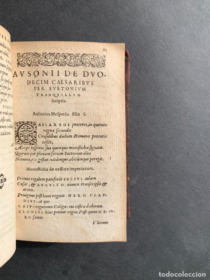 Libros antiguos: 1588 - Ausionio - Justo Lipsio - Viri Consularis Opera - Julio Cesar - Antigua Roma - Foto 20 - 141556178