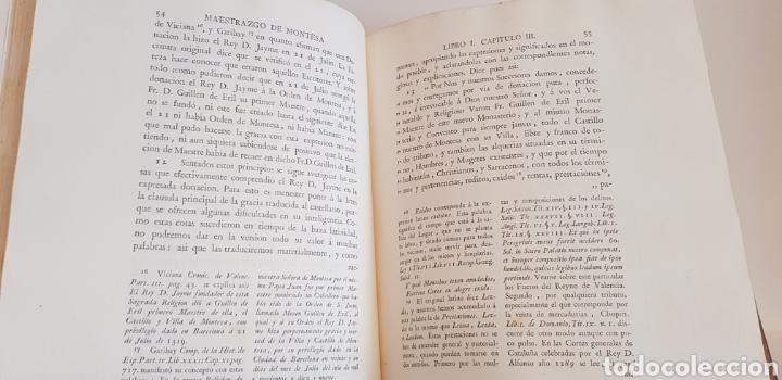 Libros antiguos: Villarroya. Real Maestrazgo de Montesa.1787.primera edicion. - Foto 8 - 141771416