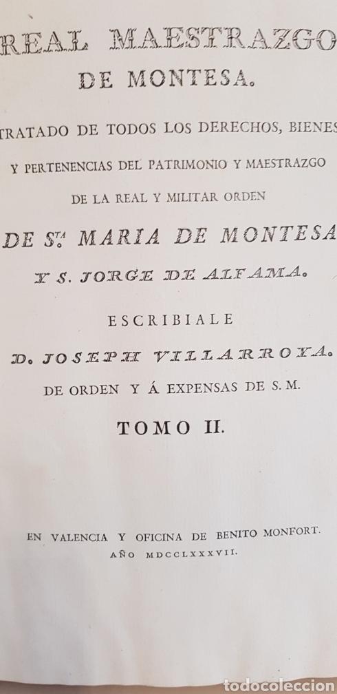 Libros antiguos: Villarroya. Real Maestrazgo de Montesa.1787.primera edicion. - Foto 10 - 141771416