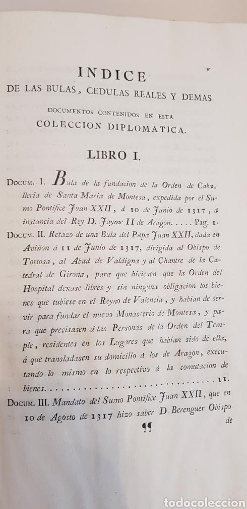 Libros antiguos: Villarroya. Real Maestrazgo de Montesa.1787.primera edicion. - Foto 11 - 141771416