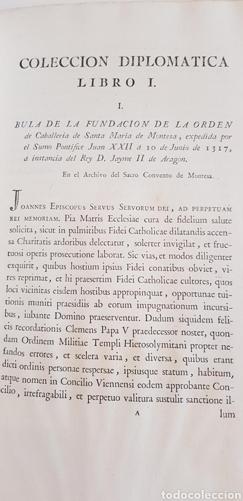 Libros antiguos: Villarroya. Real Maestrazgo de Montesa.1787.primera edicion. - Foto 12 - 141771416