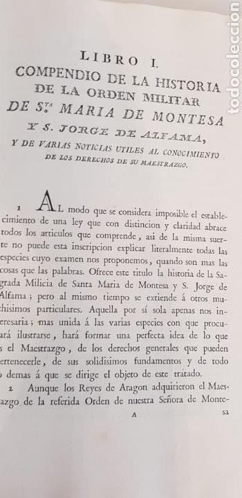 Libros antiguos: Villarroya. Real Maestrazgo de Montesa.1787.primera edicion. - Foto 7 - 141771416