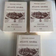 Libros antiguos: ATLANTE ESPAÑOL-REINO DE VALENCIA-BERNARDO ESPINALT-3 TOMOS-EDICION FACSIMIL-AÑO 1988.. Lote 142645894