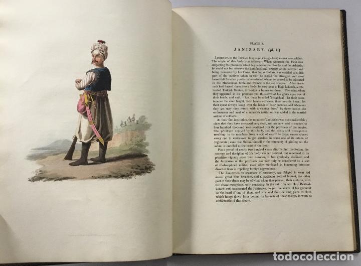 Libros antiguos: THE MILITARY COSTUME OF TURKEY. Illustrated by a series of engravings, from Drawings... London, 1818 - Foto 3 - 142425057
