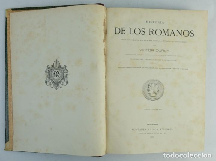 Libros antiguos: Historia de los romanos-Victor Duruy-Ed.Montaner y Simon, Barcelona 1888-dos tomos - Foto 6 - 143181174