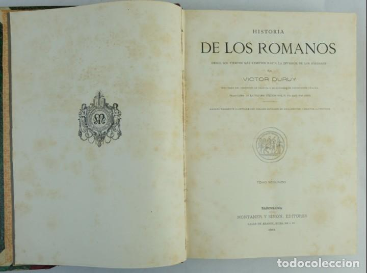 Libros antiguos: Historia de los romanos-Victor Duruy-Ed.Montaner y Simon, Barcelona 1888-dos tomos - Foto 9 - 143181174