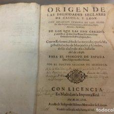 Alte Bücher - ORIGEN DE LAS DIGNIDADES SEGLARES DE CASTILLA Y LEON - 143780050