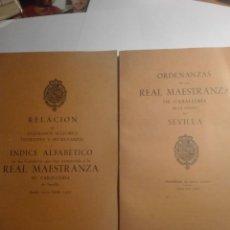Libros antiguos: 2 LIBROS DE ORDENANZAS DE LA REAL MAESTRANZA DE CABALLERIA DE LA CIUDAD DE SEVILLA-AÑO 1969. Lote 144254954