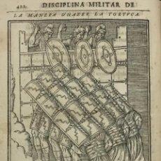 Libros antiguos: LOS DISCURSOS DE LA RELIGION, CASTRAMENTAÇION, ASSIENTO DEL CAMPO, BAÑOS Y EXERÇIÇIOS DE LOS ANTIGUO. Lote 142425449