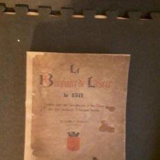 Libros antiguos: M. L'ABBÉ V. DUBARAT. BREVIAIRE DE LESCAR DE 1541. HISTORIA RELIGIOSA DEL PAÍS VASCO FRANCÉS.. Lote 145621314