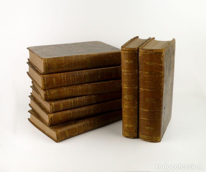 Libros antiguos: Dr.D.Manuel Ortiz de la Vega-Los Héroes y las Grandezas de la Tierra,Historia Universal 8 Tomos,1854 - Foto 2 - 146098206