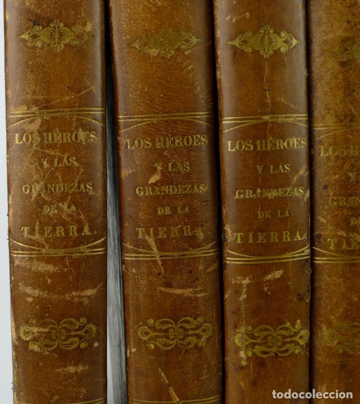 Libros antiguos: Dr.D.Manuel Ortiz de la Vega-Los Héroes y las Grandezas de la Tierra,Historia Universal 8 Tomos,1854 - Foto 4 - 146098206