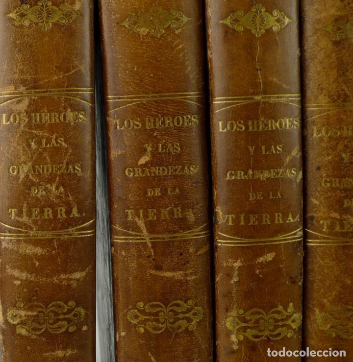 Libros antiguos: Dr.D.Manuel Ortiz de la Vega-Los Héroes y las Grandezas de la Tierra,Historia Universal 8 Tomos,1854 - Foto 6 - 146098206