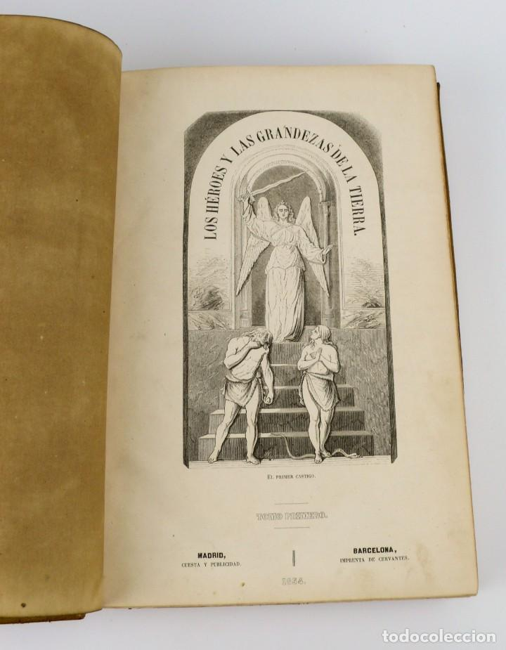 Libros antiguos: Dr.D.Manuel Ortiz de la Vega-Los Héroes y las Grandezas de la Tierra,Historia Universal 8 Tomos,1854 - Foto 19 - 146098206