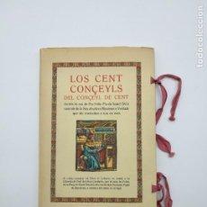 Libros antiguos: PARA BIBLIOFILOS LOS CENTS CONÇEYLS. Lote 146171298