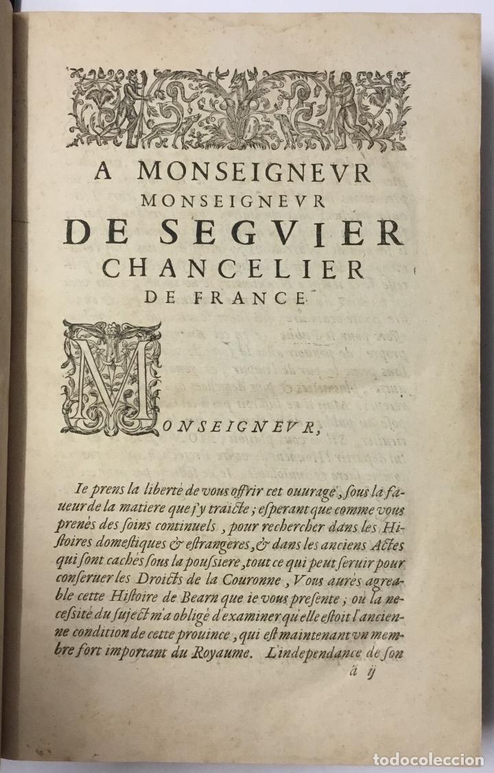 Libros antiguos: HISTOIRE DE BEARN, contenant lorigine des rois de Navarre. MARCA, Pierre de. París, 1640. - Foto 2 - 146497178