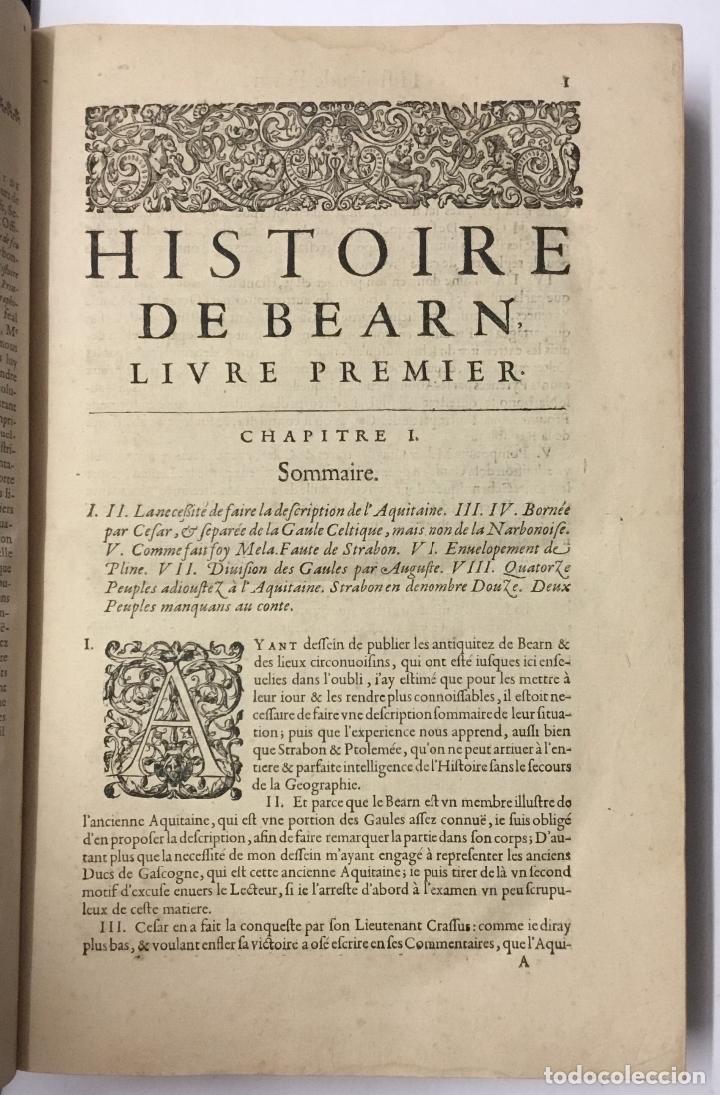 Libros antiguos: HISTOIRE DE BEARN, contenant lorigine des rois de Navarre. MARCA, Pierre de. París, 1640. - Foto 3 - 146497178