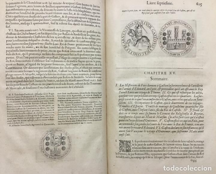 Libros antiguos: HISTOIRE DE BEARN, contenant lorigine des rois de Navarre. MARCA, Pierre de. París, 1640. - Foto 4 - 146497178