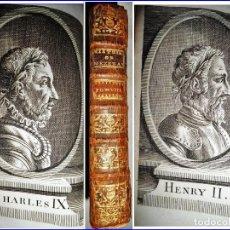 Libros antiguos: AÑO 1740: HISTORIA DE FRANCIA. CON RETRATOS DE REYES. SIGLO XVIII.. Lote 146794334