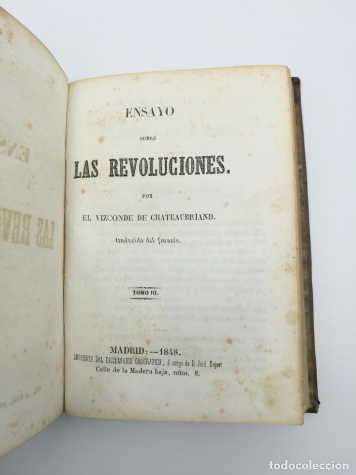 Libros antiguos: Història de las revolución 1847 3 tres partes mismo tomo - Foto 4 - 146858786