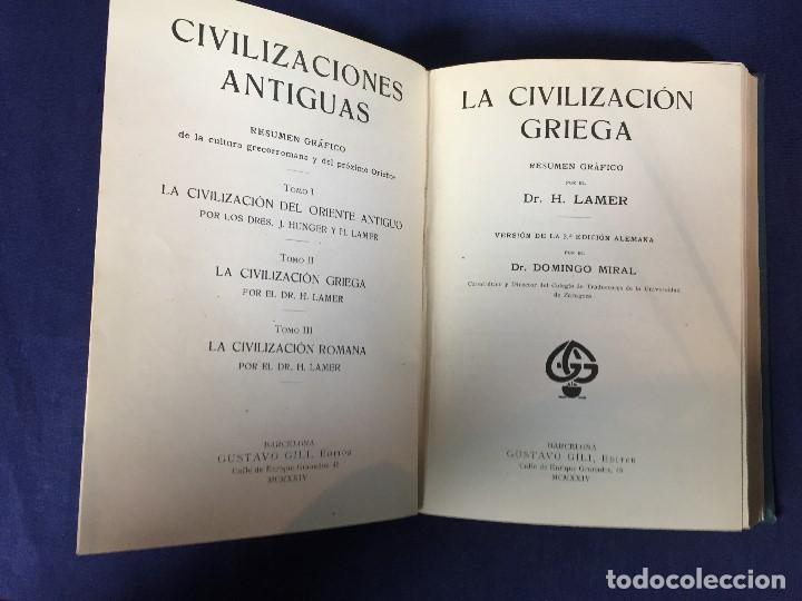 Libros antiguos: CIVILIZACIÓN DEL ORIENTE ANTIGUO 3 TOMOS EN 1 Oriente Griega Romana J Hunger H Lamer - Foto 13 - 146862558