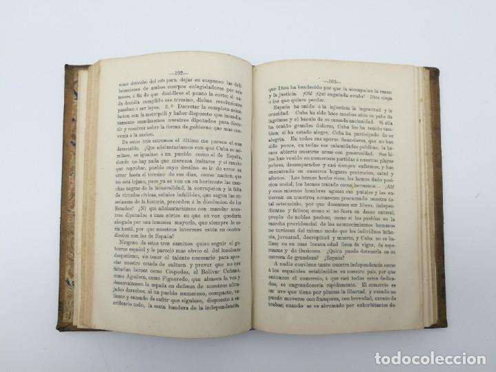 Libros antiguos: Impresiones de un viaje Fernando Poo Guinea + constitución Cuba 1869 - Foto 3 - 146944030