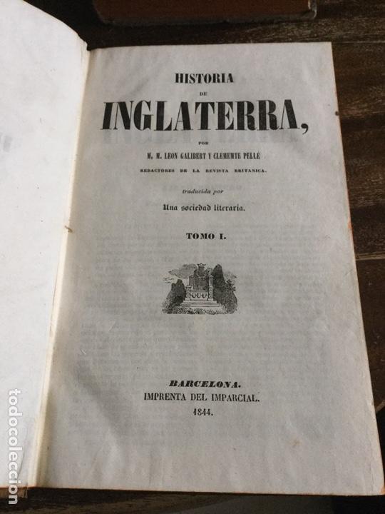 Libros antiguos: Historia de inglaterra. 4 tomos . 1844. Panorama universal - Foto 4 - 147348402