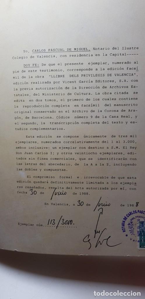 Libros antiguos: El llibre dels privilegis de Valencia,(facsimil) - Foto 5 - 148041154