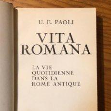 Libros antiguos: VITA ROMANA(33€). Lote 148230782