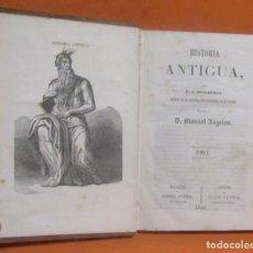 Libros antiguos: HISTORIA ANTIGUA -J.J. GUILLEMIN- TRADUC. MANUEL ANGELON TOMO I IMPRIME NARCISO RAMIREZ BARNA 1858. Lote 148761362