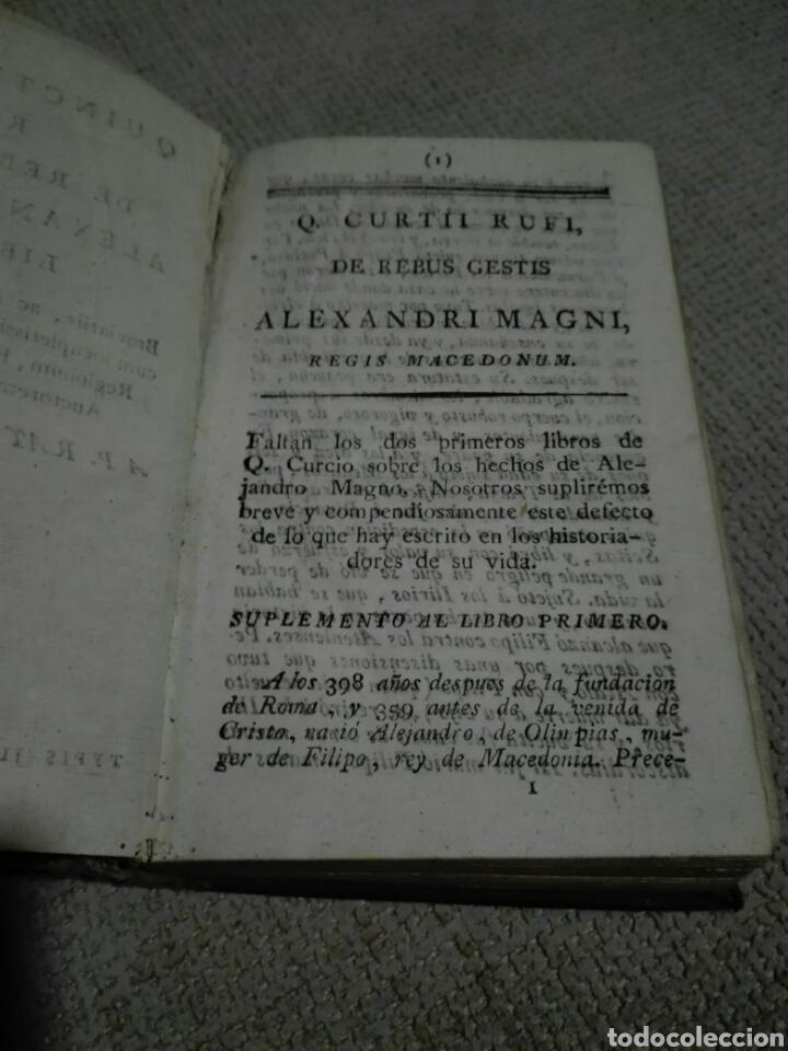 Libros antiguos: DE REBUS GESTIS ALEXANDRI MAGNI. ALEJANDRO MAGNO 1828, DE QUINTO CURCIO RUFO. - Foto 3 - 149265121