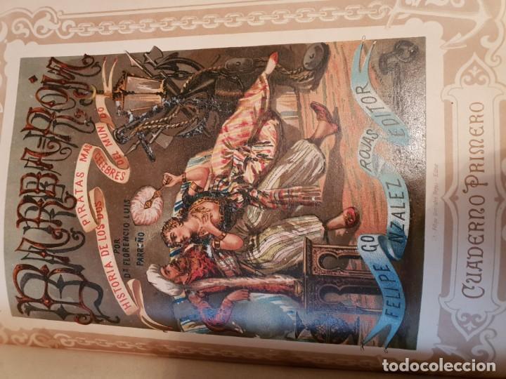 Libros antiguos: Barbarroja historia de los piratas más célebres del mundo 2 tomo - Foto 3 - 149591794