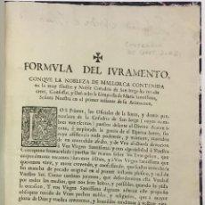 Libros antiguos: [MALLORCA. PLIEGOS RELATIVOS A LA COFRADÍA DE SANT JORDI.] 1692 - 1701.. Lote 123152750