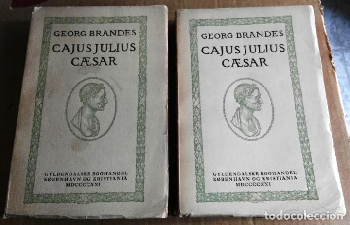 GEORG BRANDES, CAJUS JULIUS CAESAR, NORUEGA, 1921, 2 TOMOS. JULIO CÉSAR. EN NORUEGO (Libros antiguos (hasta 1936), raros y curiosos - Historia Antigua)