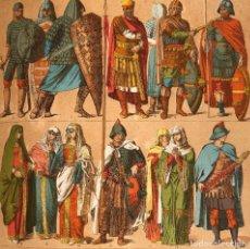 Libros antiguos: 1883 HISTORIA UNIVERSAL - FOLIO - LAMINAS GRABADOS - EDAD MEDIA - BARBAROS - BIZANCIO. Lote 150196066