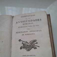 Old books - Libro Compendio de las antigüedades Romanas. En pergamino. - 151438944