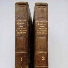 Libros antiguos: COMPENDIO RAZONADO DE HISTORIA GENERAL, DOS TOMOS. 1863 Y 1866. Lote 151521346