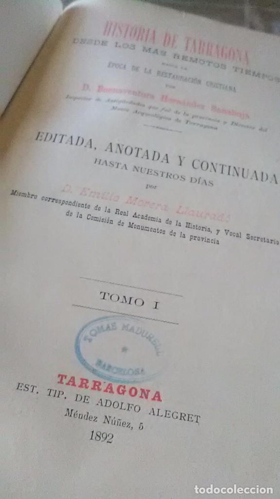 Libros antiguos: Tarragona - Foto 2 - 152544566
