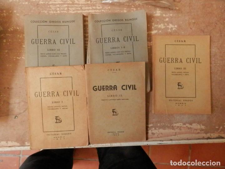 BELLUM CIVILE, GUERRA CIVIL , DE CÉSAR. EDITORIAL GREDOS. MADRID 1957 (Libros antiguos (hasta 1936), raros y curiosos - Historia Antigua)
