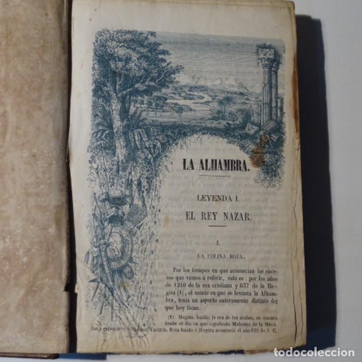 LA ALHAMBRA.LEYENDAS ARABES LOS ACAZARES DE ESPAÑA 1856.MANUEL FERNANDEZ GONZALEZ. (Libros antiguos (hasta 1936), raros y curiosos - Historia Antigua)