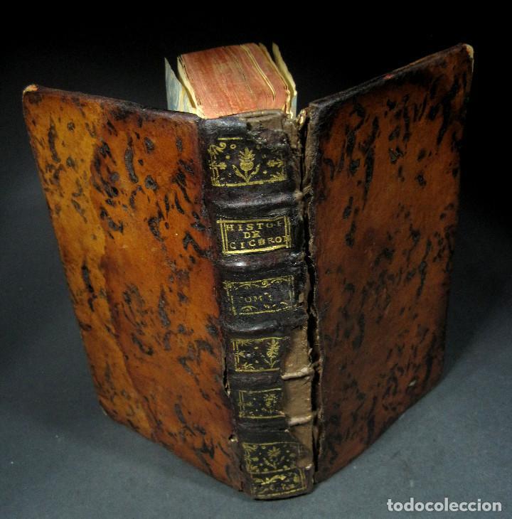 Libros antiguos: Año 1749 Historia de Cicerón Rara segunda edición parisina Frontispicio grabado Antigua Roma - Foto 10 - 153632570