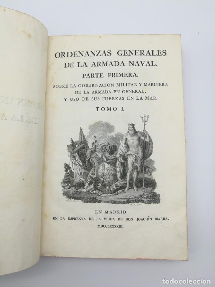 Libros antiguos: Ordenanzas generales de la armada Naval 1793 - Foto 2 - 153844386
