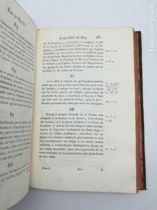 Libros antiguos: Ordenanzas generales de la armada Naval 1793 - Foto 4 - 153844386