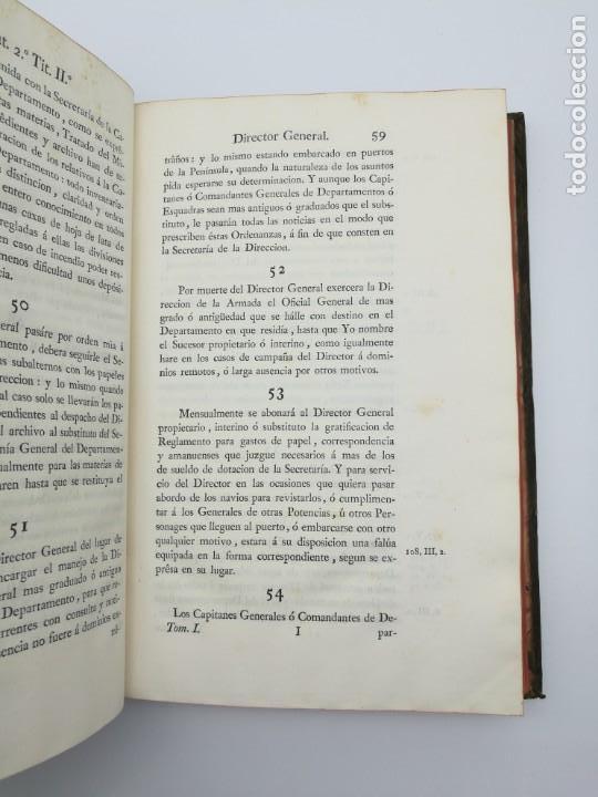 Libros antiguos: Ordenanzas generales de la armada Naval 1793 - Foto 5 - 153844386