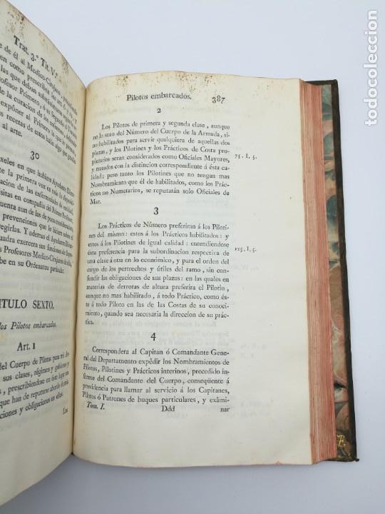 Libros antiguos: Ordenanzas generales de la armada Naval 1793 - Foto 6 - 153844386