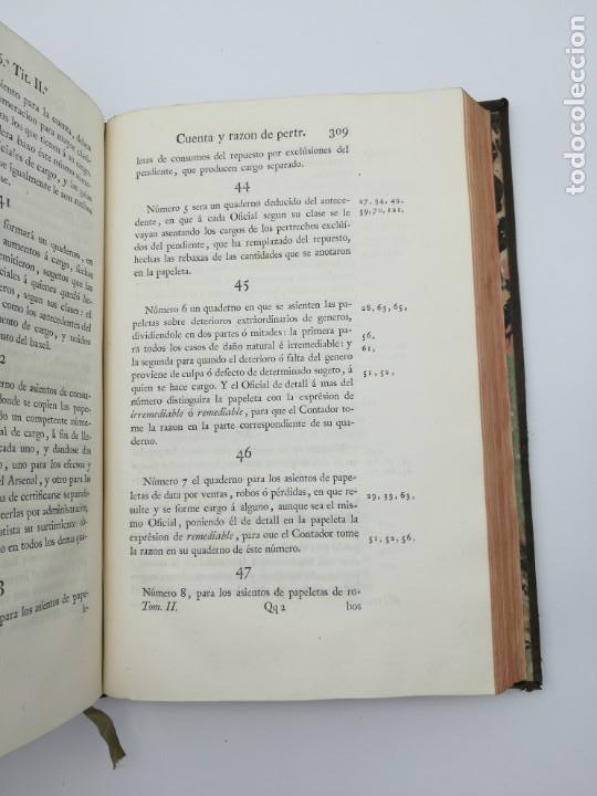 Libros antiguos: Ordenanzas generales de la armada Naval 1793 - Foto 7 - 153844386